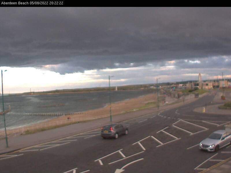 Aberdeen Beach, NE Scotland - Webcam image