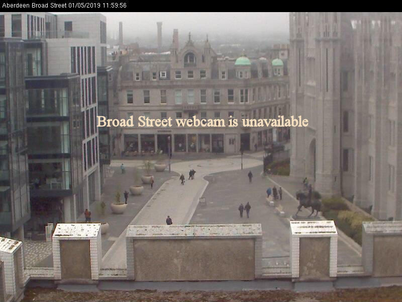 Live images from Aberdeen city centre Broad Street Webcam