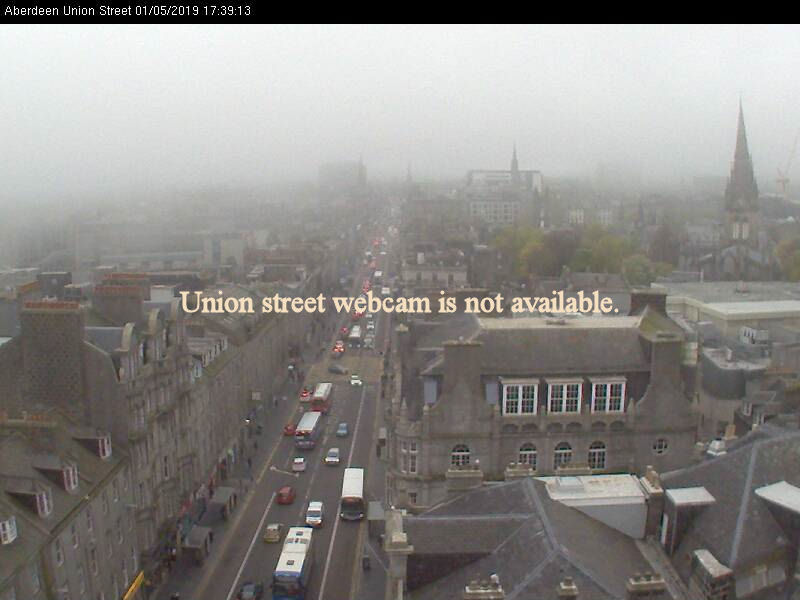 Live images from Aberdeen city centre Union Street Webcam